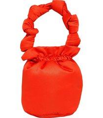 satin knots top handle purse a3351