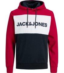 jack & jones hoodie met zwarte achterkant regular fit