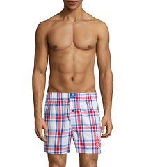 cotton plaid boxer shorts