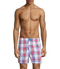 cotton plaid boxer shorts