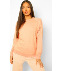 lange oversized sweater met ballonmouwen, orange