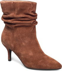 agnete slouchy shoes boots ankle boots ankle boot - heel brun shoe the bear