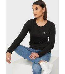 calvin klein jeans ck embroidery ls t-shirt toppar