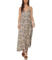 black tape printed cami maxi dress