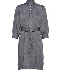 lonny dress knälång klänning grå minus