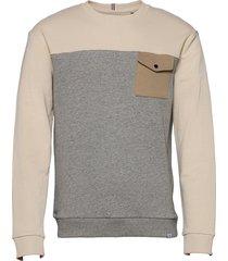 capri block sweatshirt sweat-shirt tröja grå les deux