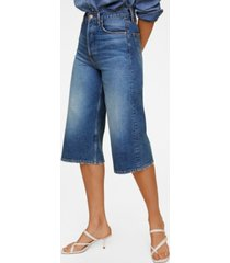 mango women's denim bermuda shorts