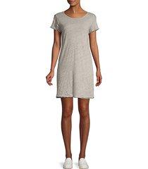 contrast-trim cotton t-shirt dress