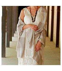 wool shawl, 'paisley lands' (india)