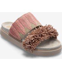 raffia shoes summer shoes flat sandals rosa inuikii