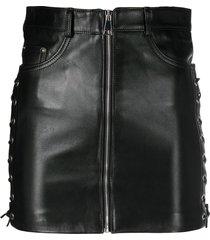 manokhi high-rise zip-up short skirt - black