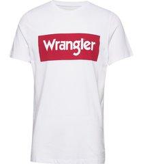 ss logo tee t-shirts short-sleeved vit wrangler