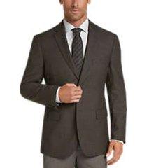pronto uomo platinum modern fit sport coat brown check