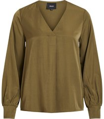 object blouse 23032114 burnt olive - groen
