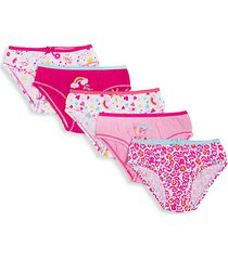 little girl's 5-pack cotton panties