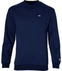 tommy jeans pullover - regular fit - blauw