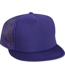 otto polyester foam front flat visor high crown golf style mesh back caps purple