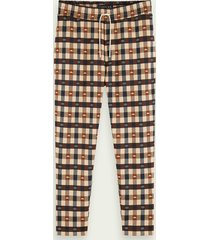 scotch & soda geruite sweatpants
