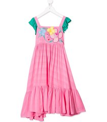 raspberry plum greta embroidered dress - pink
