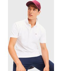 polera tommy jeans tjm classics solid stretch pol blanco - calce regular