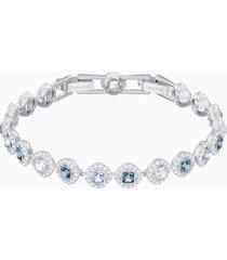 braccialetto angelic square, azzurro, placcatura rodio
