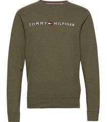 track top ls hwk rib sweat-shirt trui groen tommy hilfiger