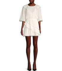 iro women's zafora grommet-trim dress - white - size 40 (8)