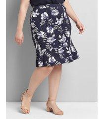 lane bryant women's short flounce skirt 18/20 navy and white