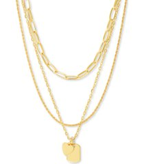 "steve madden gold-tone mixed chain 20"" pendant necklace"
