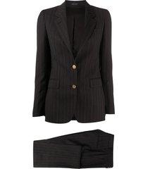 tagliatore stripe suit set - grey