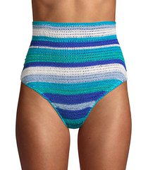 jamie crochet striped bikini bottom