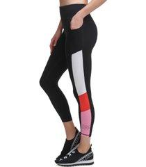 dkny colorblocked 7/8 length leggings