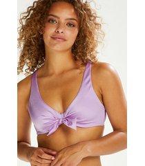 hunkemöller shine deluxe formpressad bikiniöverdel lila