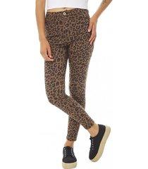 jeans print mujer leopardo corona