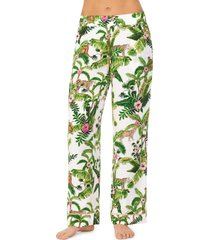 women's shady lady wide leg pajama pants, size small - green