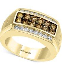 effy men's multi-color diamond ring (1-3/8 ct. t.w.) in 14k gold