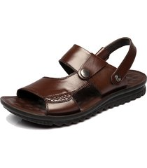 sandali mare in pelle vera