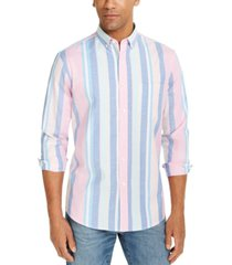 club room men's joey stripe oxford shirt, created for macy's