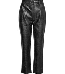 alivia trousers leather leggings/broek zwart twist & tango