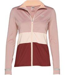 caroline f/z sweat-shirt trui roze kari traa
