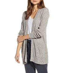 women's caslon marled cardigan sweater, size x-small - ivory