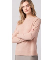 cashmere sweater met geribde boothals