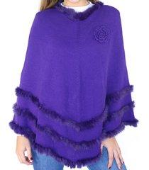 poncho violeta almacen de paris