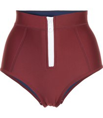 duskii high waisted bikini bottoms - red