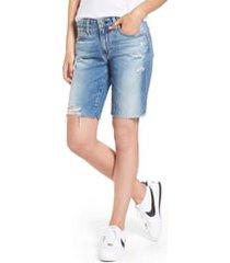 women's ag nikki cutoff denim shorts, size 29 - blue