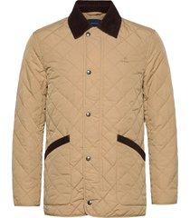d1. quilted barn jacket doorgestikte jas beige gant