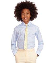 tommy hilfiger big boys 2-pc. stretch paisley-print dress shirt & stripe tie set