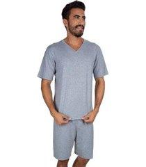 pijama curto liso masculino