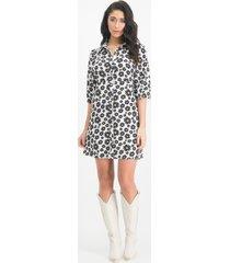 lofty manner mn18 mikki dress jurkje black/white -