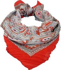 pañuelo rojo nuevas historias plisado  ak21-19